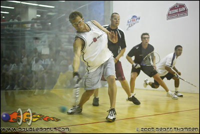 Racquetball Photo: Just around the corner   2006 National Doubles