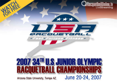 Racquetball Photo: 2007 Junior Olympic Racquetball Championships